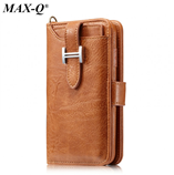 Brown Retro Handmade Genuine PU Leather iPhone Wallet Case